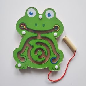 Magnetic Bead Board Maze Frog